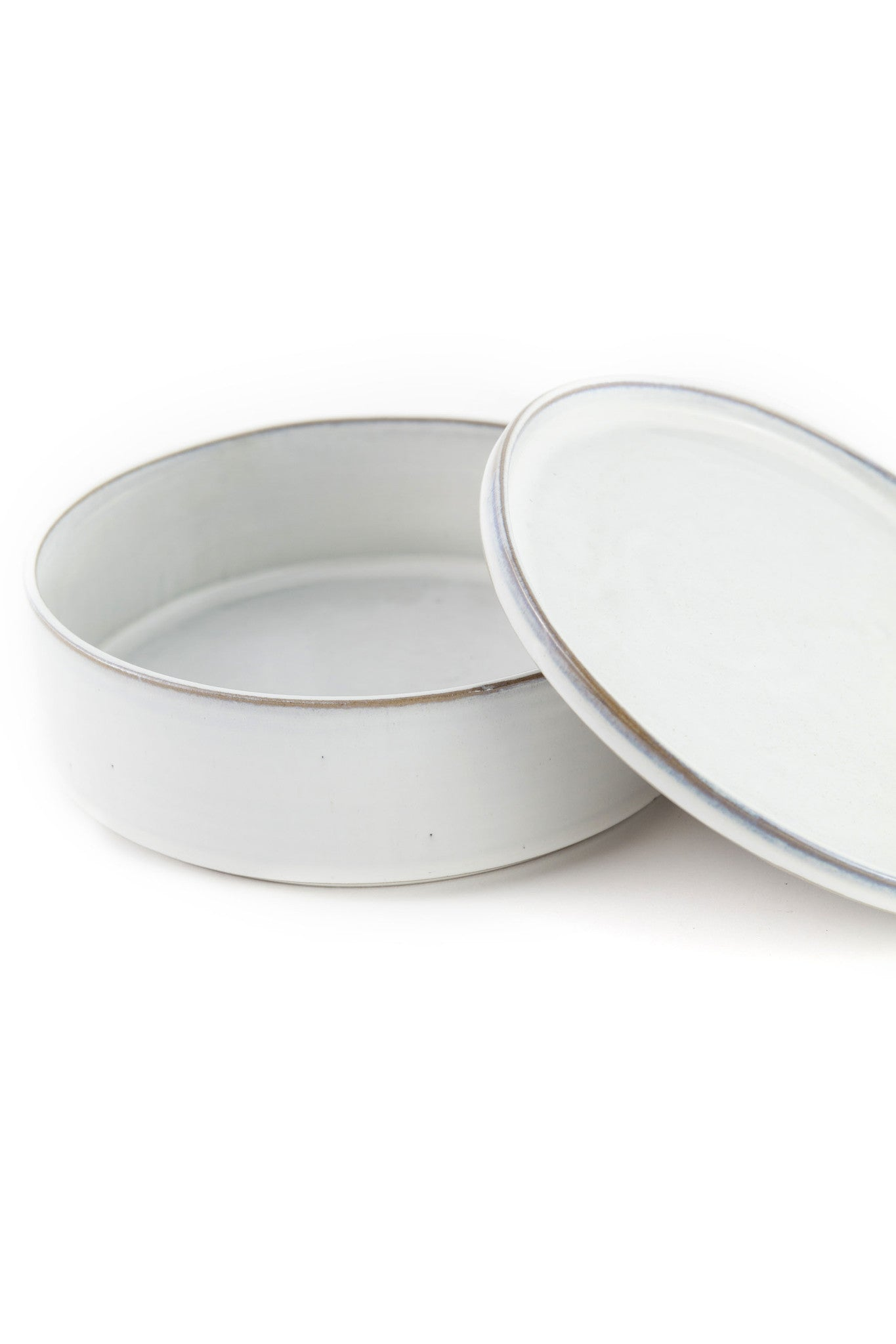 Yarnnakarn Rustic Salad Bowl and Plate Lid Set Small
