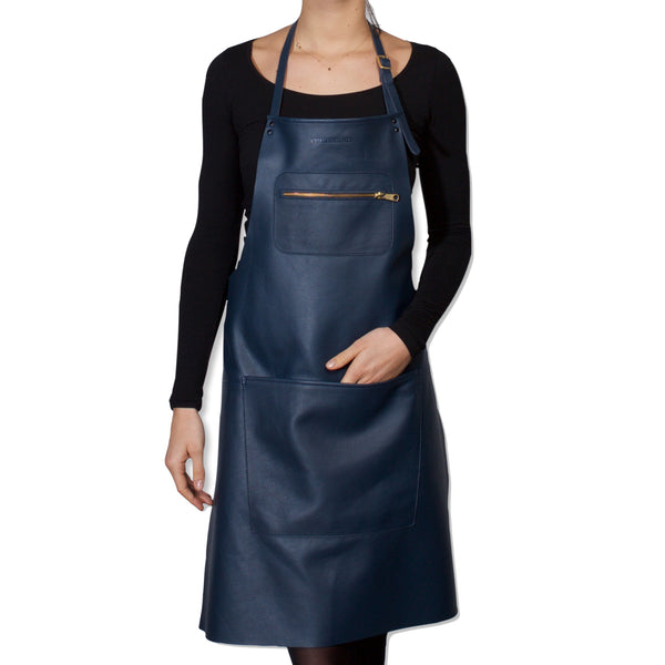 "Dutchdeluxes Full Length Zipper Style ""Amazing Apron"" in Deep Sea Blue"