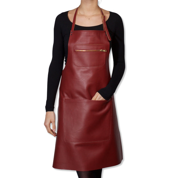 "Dutchdeluxes Full Length Zipper Style ""Amazing Apron"" in New Ruby Red"