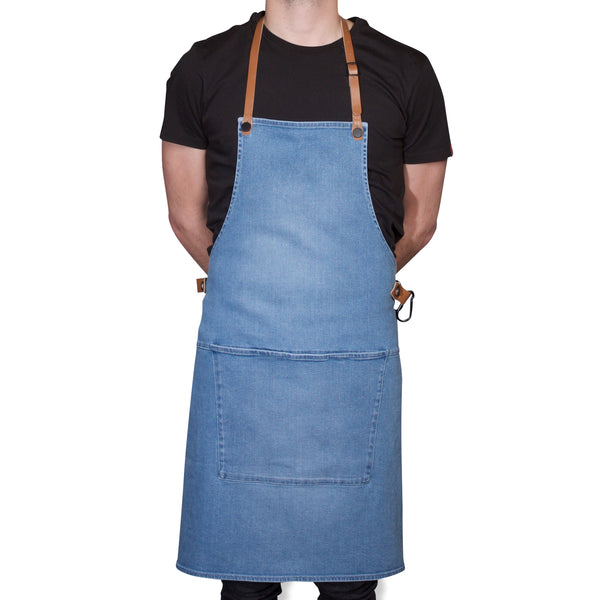 "Dutchdeluxes Full Length BBQ Style Washed Indigo Denim ""Amazing Apron"""