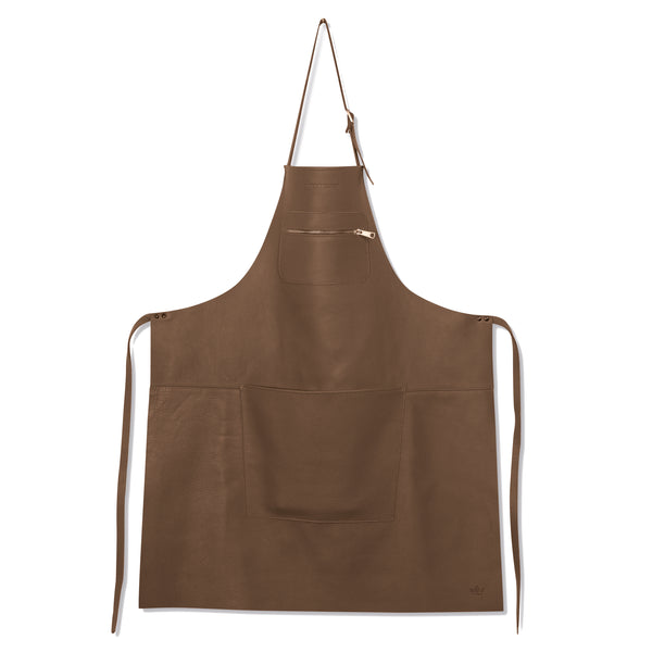 "Dutchdeluxes Full Length Zipper Style ""Amazing Apron"" in Taupe"