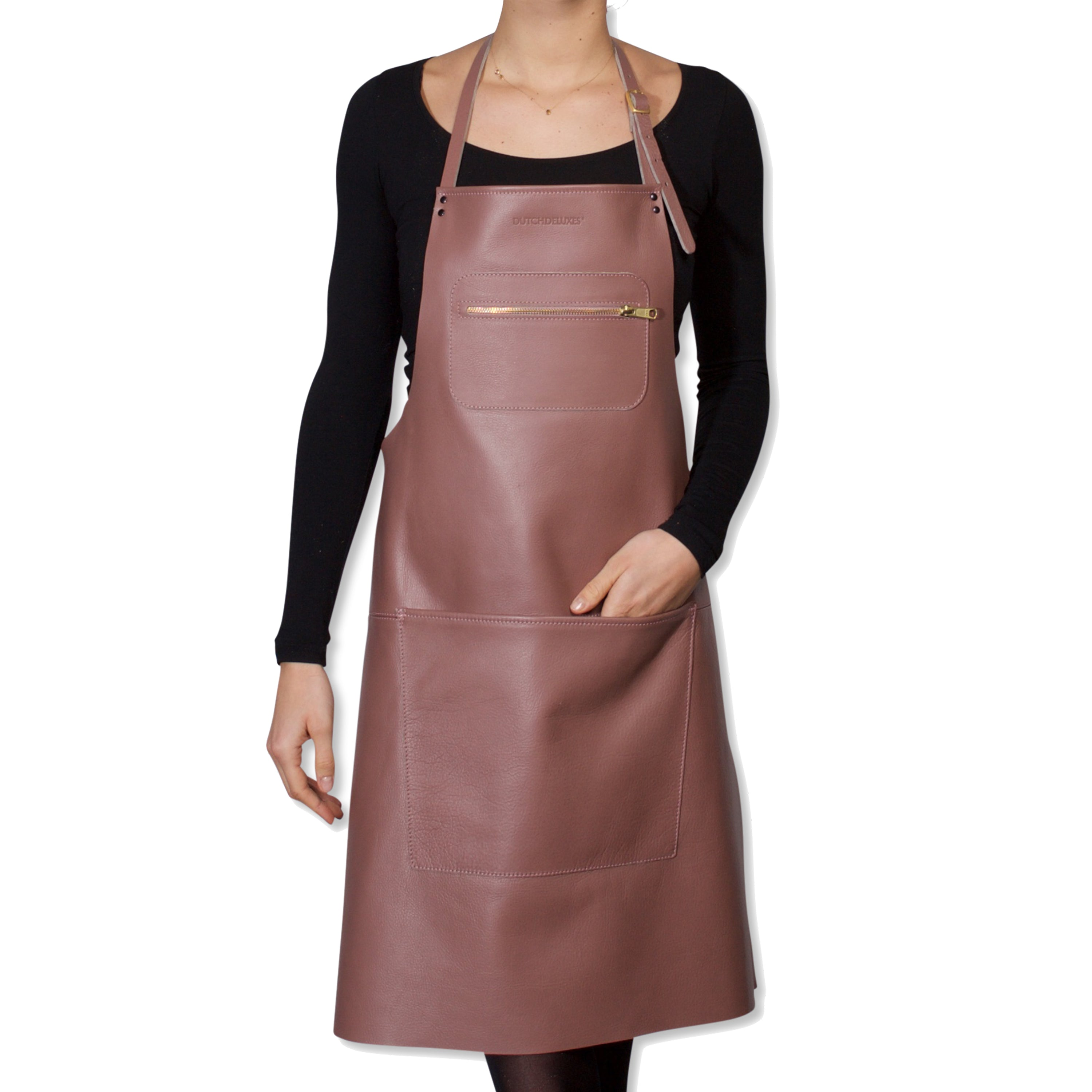 "Dutchdeluxes Full Length Zipper Style ""Amazing Apron"" in Classic Rose"