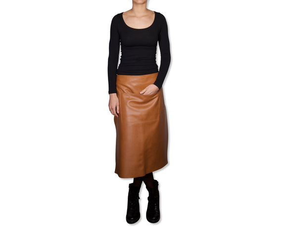 "Dutchdeluxes Waist Long New Natural Leather ""Professional Apron"""