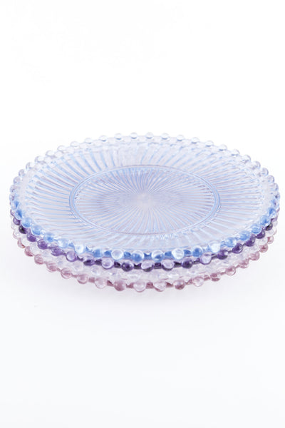 Dentelle Aurora Glass Plate in Aquamarine