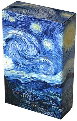 Mini Hinged Tin Box Van Gogh Starry Night