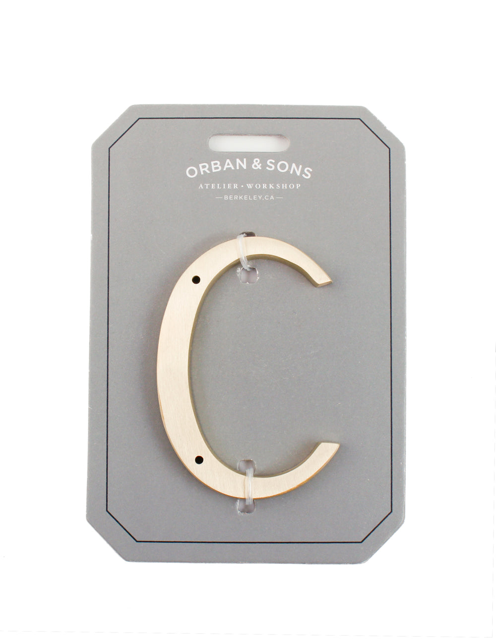 "Orban & Sons Brass Letter ""C"""
