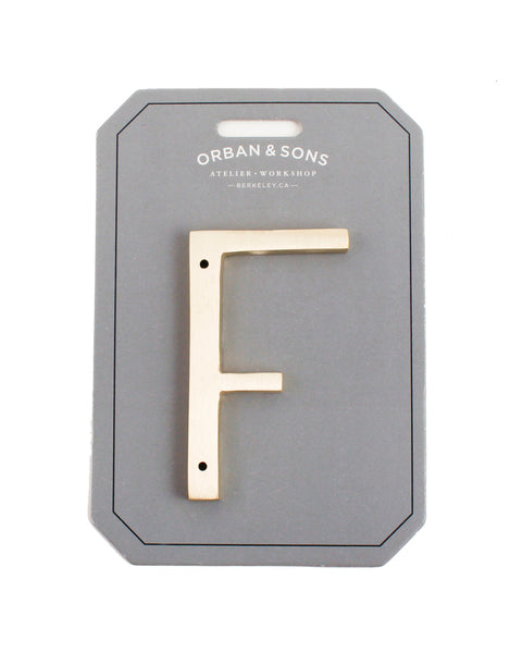 "Orban & Sons Brass Letter ""F"""