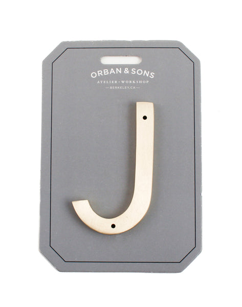 "Orban & Sons Brass Letter ""J"""