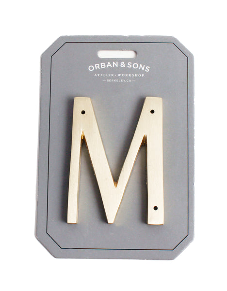 "Orban & Sons Brass Letter ""M"""
