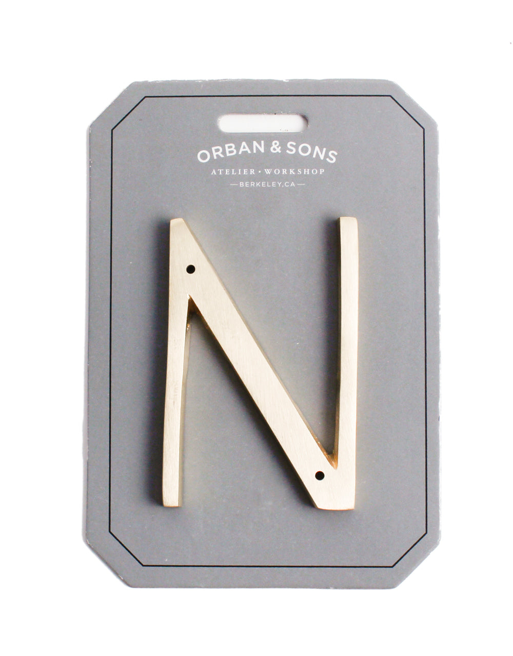 "Orban & Sons Brass Letter ""N"""