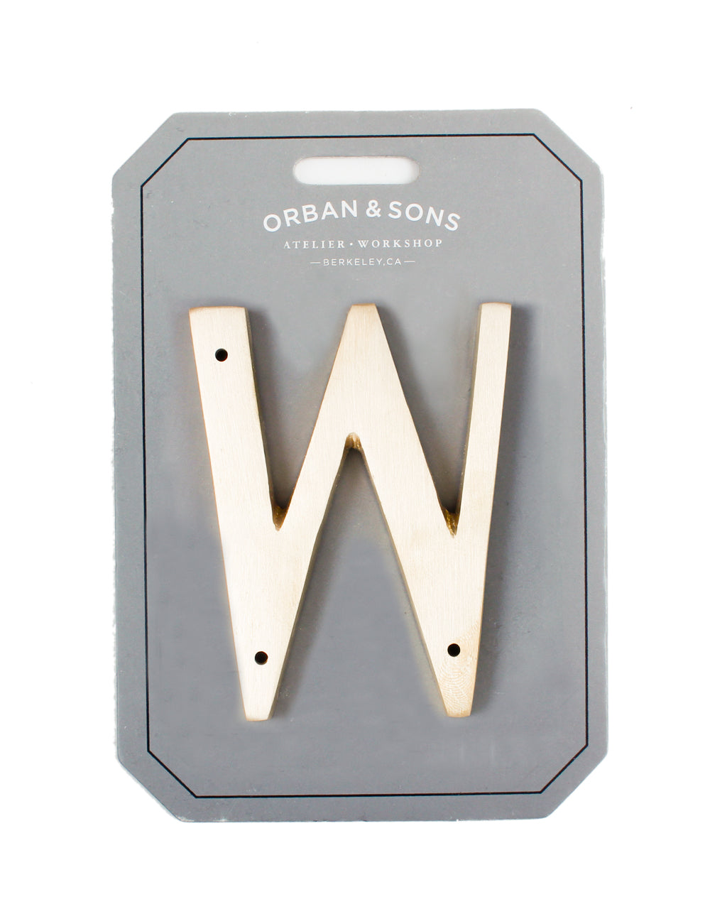 "Orban & Sons Brass Letter ""W"""