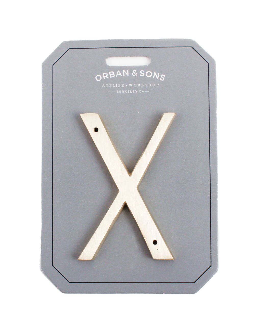 "Orban & Sons Brass Letter ""X"""