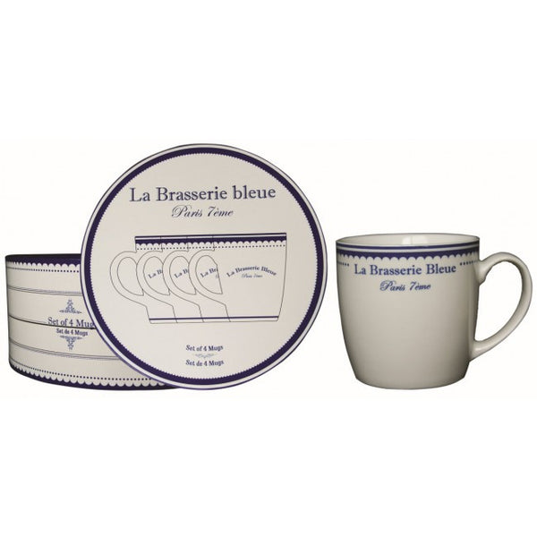 Brasserie Bleue Set of 4 Mugs