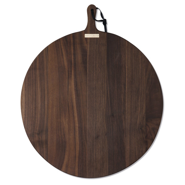Dutchdeluxes Extra-Large Round French Walnut Bread Board