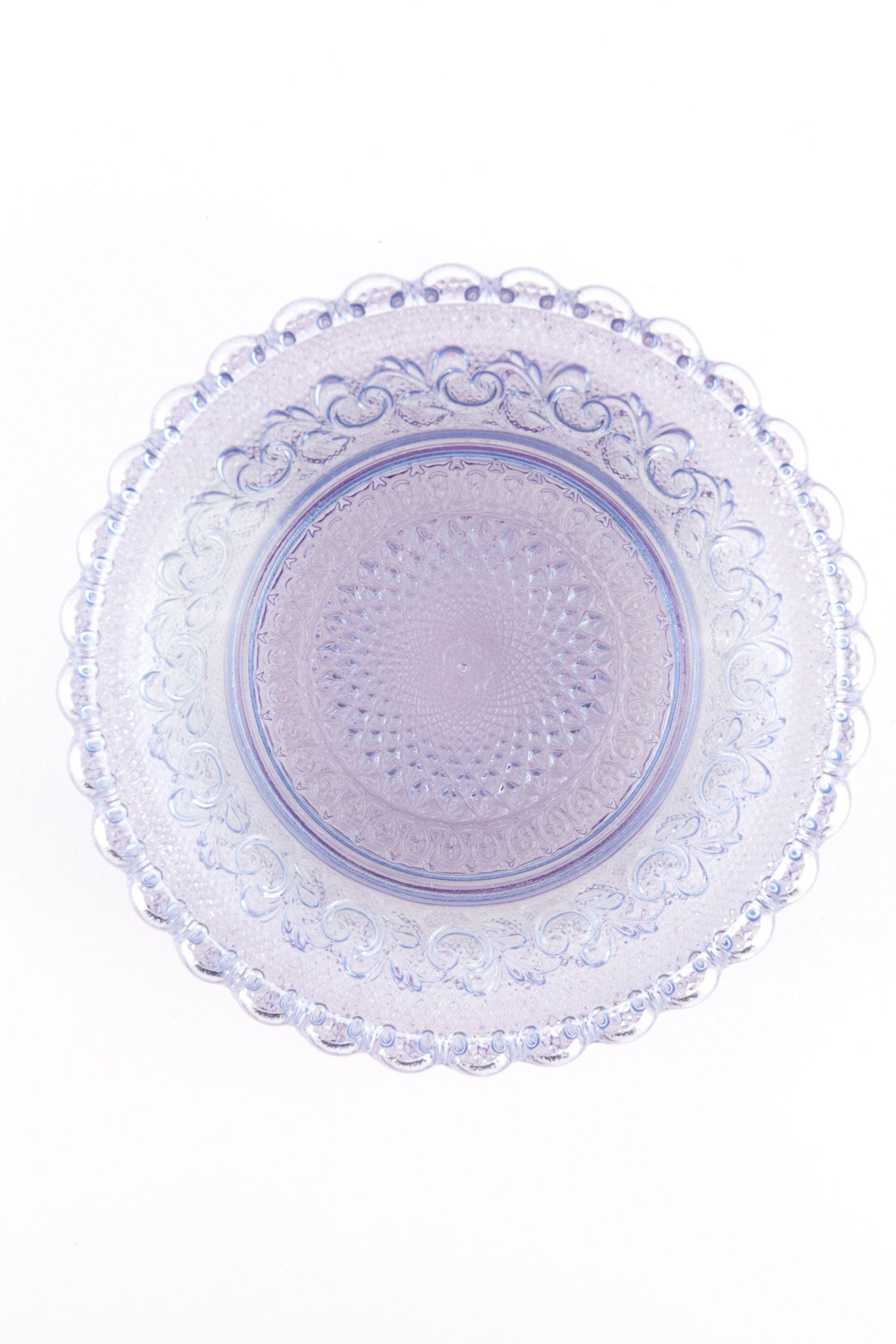 Dentelle Chantilly Glass Plate in Blush