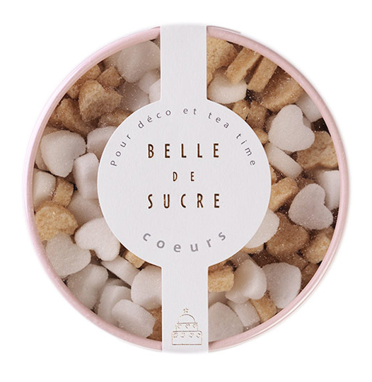 Belle du Sucre Petit Coeur Sugars in Blush Box