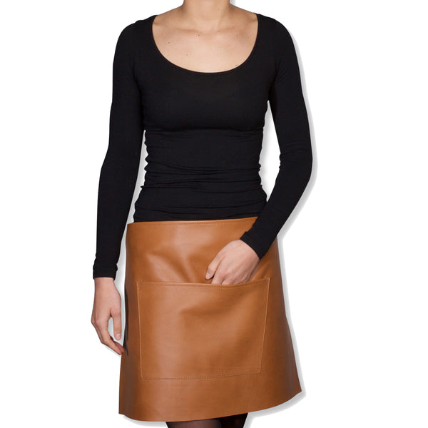 "Dutchdeluxes Waist Short New Neutral Leather ""Professional Apron"""