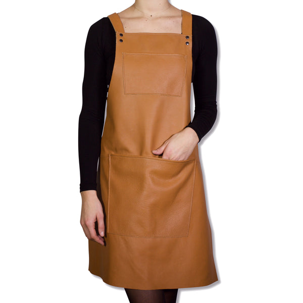 Dutchdeluxes Suspender Leather Apron Natural