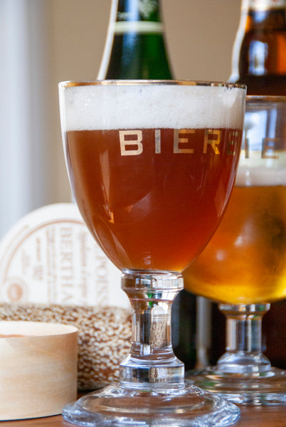 Biere Stemmed Abbey Glass with Gold Rim