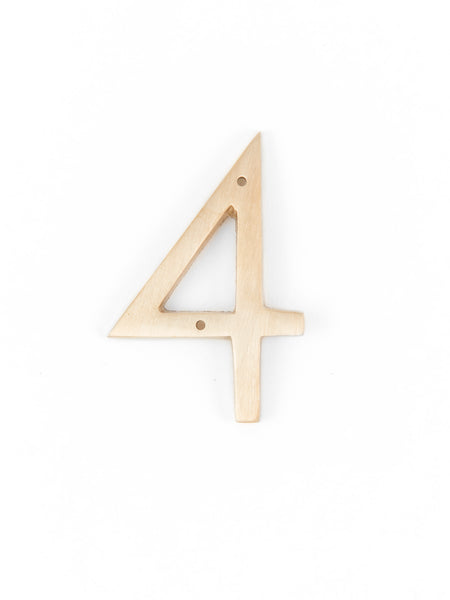 "Orban & Sons Brass Number ""4"""