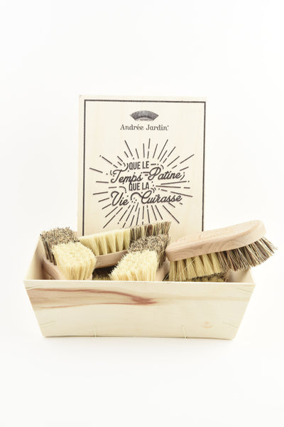 Andrée Jardin Tradition Set of 10 Vegetable Brushes in Retail Display Box