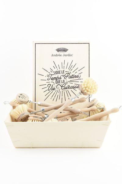 Andrée Jardin Tradition Set of 12 Handled Dish Brushes in Retail Display Box