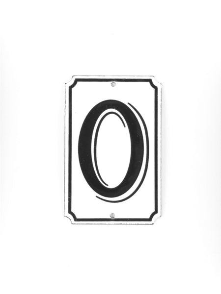 "Orban & Sons Enamel Number ""0"""