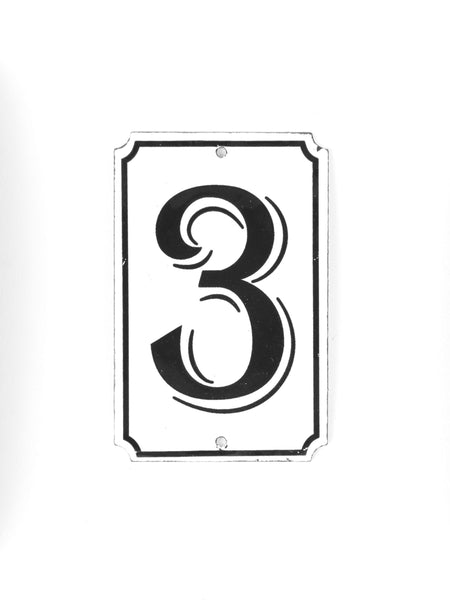 "Orban & Sons Enamel Number ""3"""