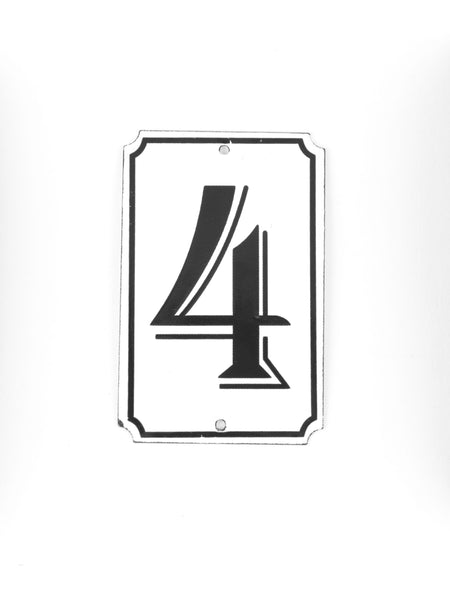"Orban & Sons Enamel Number ""4"""