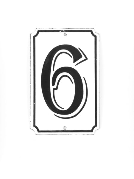 "Orban & Sons Enamel Number ""6"""