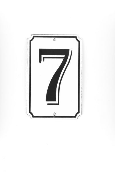 "Orban & Sons Enamel Number ""7"""