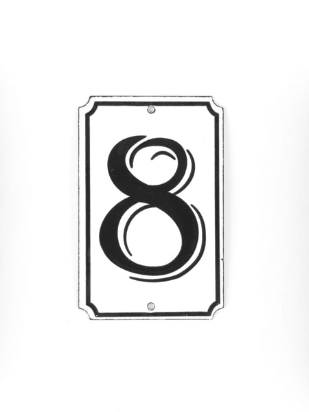 "Orban & Sons Enamel Number ""8"""