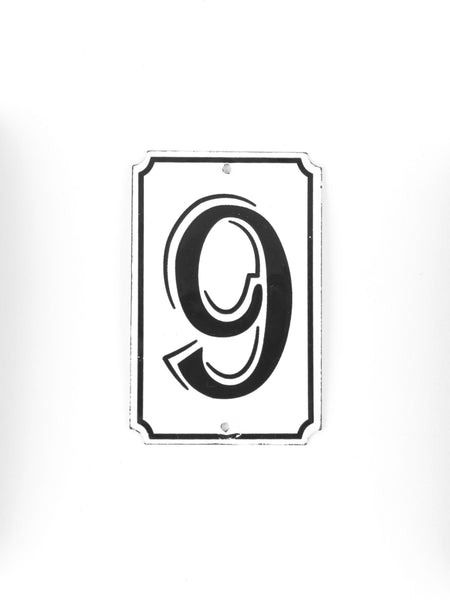 "Orban & Sons Enamel Number ""9"""