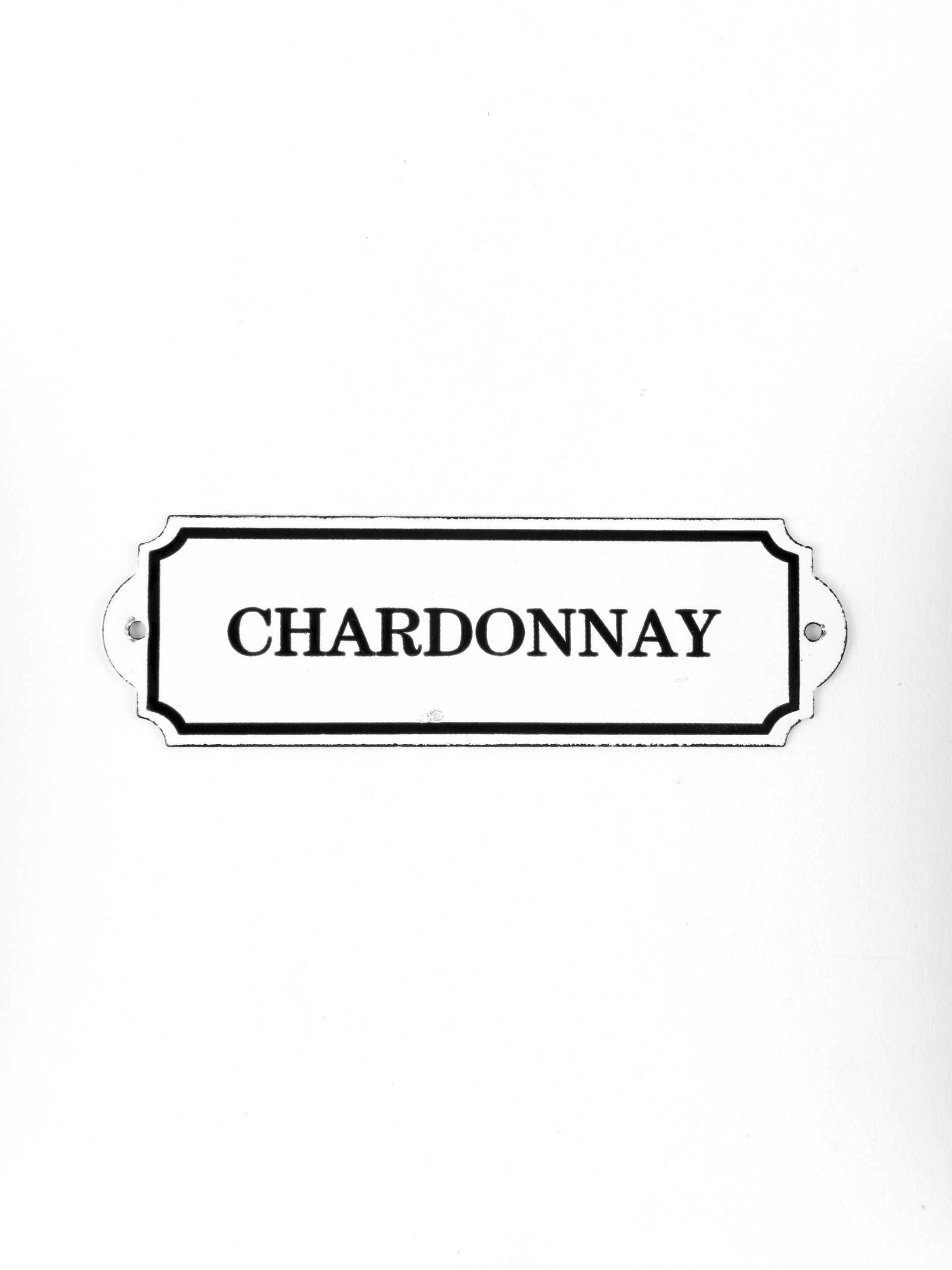 "Orban & Sons Enamel ""Chardonnay"" Sign"