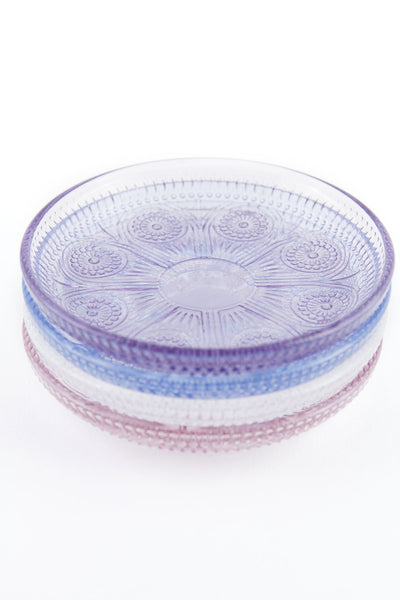 Dentelle Duchesse Glass Plate in Amethyst
