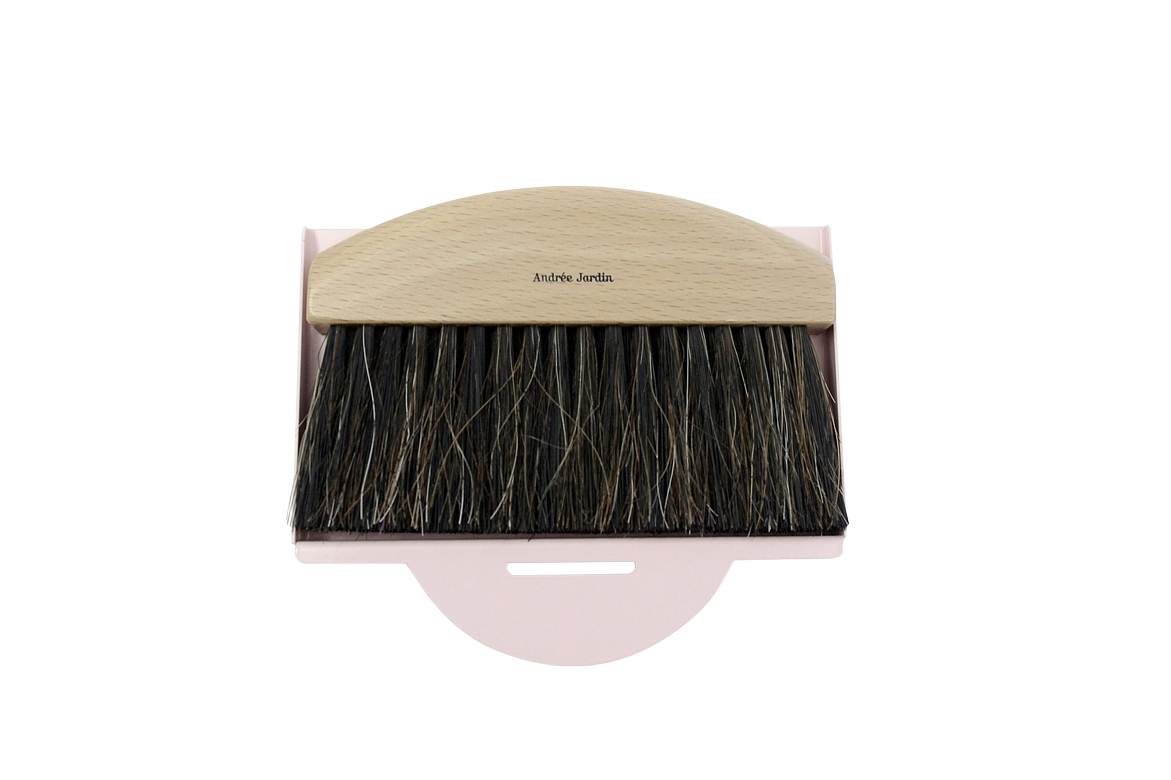 Andrée Jardin Mr. and Mrs. Clynk Mini Brush and Pink Dustpan Gift Set