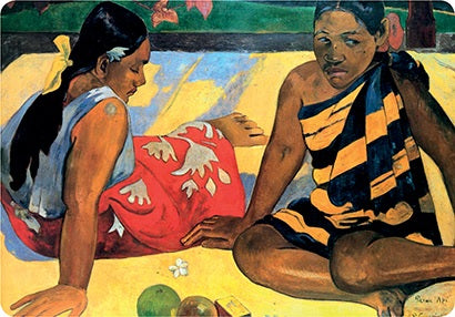 Gauguin Tahitian Women on the Beach Placemat