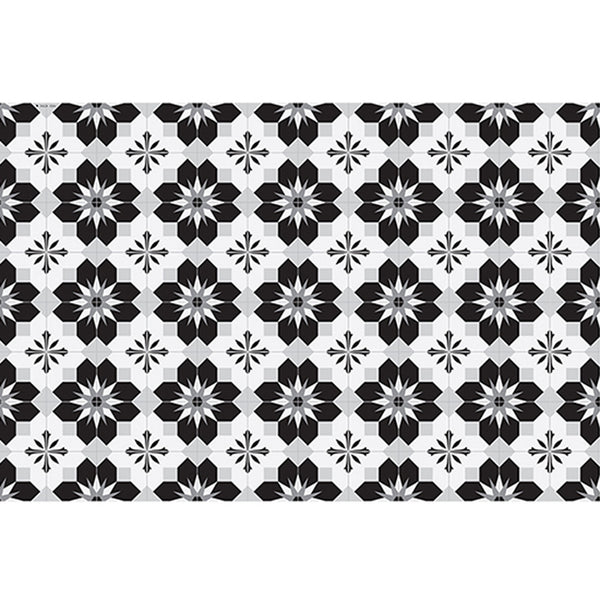 "Beija Flor Black and White Geodaisy Placemat (13"" x 20"")"