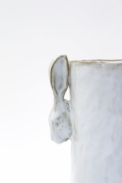 Yarnnakarn Ceramics Medium Rabbit Planting Pot & Tray