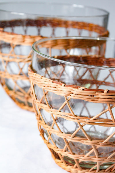 Rattan Cage Salad Bowl Medium