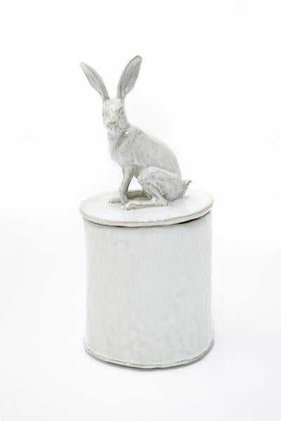 Yarnnakarn Ceramics Sitting Rabbit Lidded Vessel
