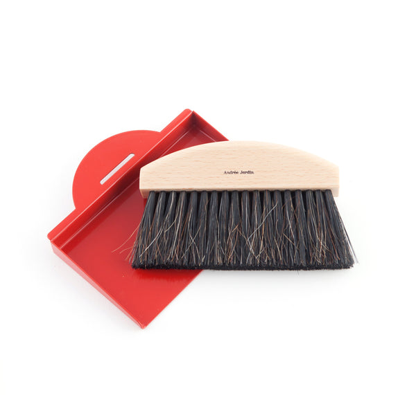 Andrée Jardin Mr. and Mrs. Clynk Mini Brush and Red Dustpan Gift Set
