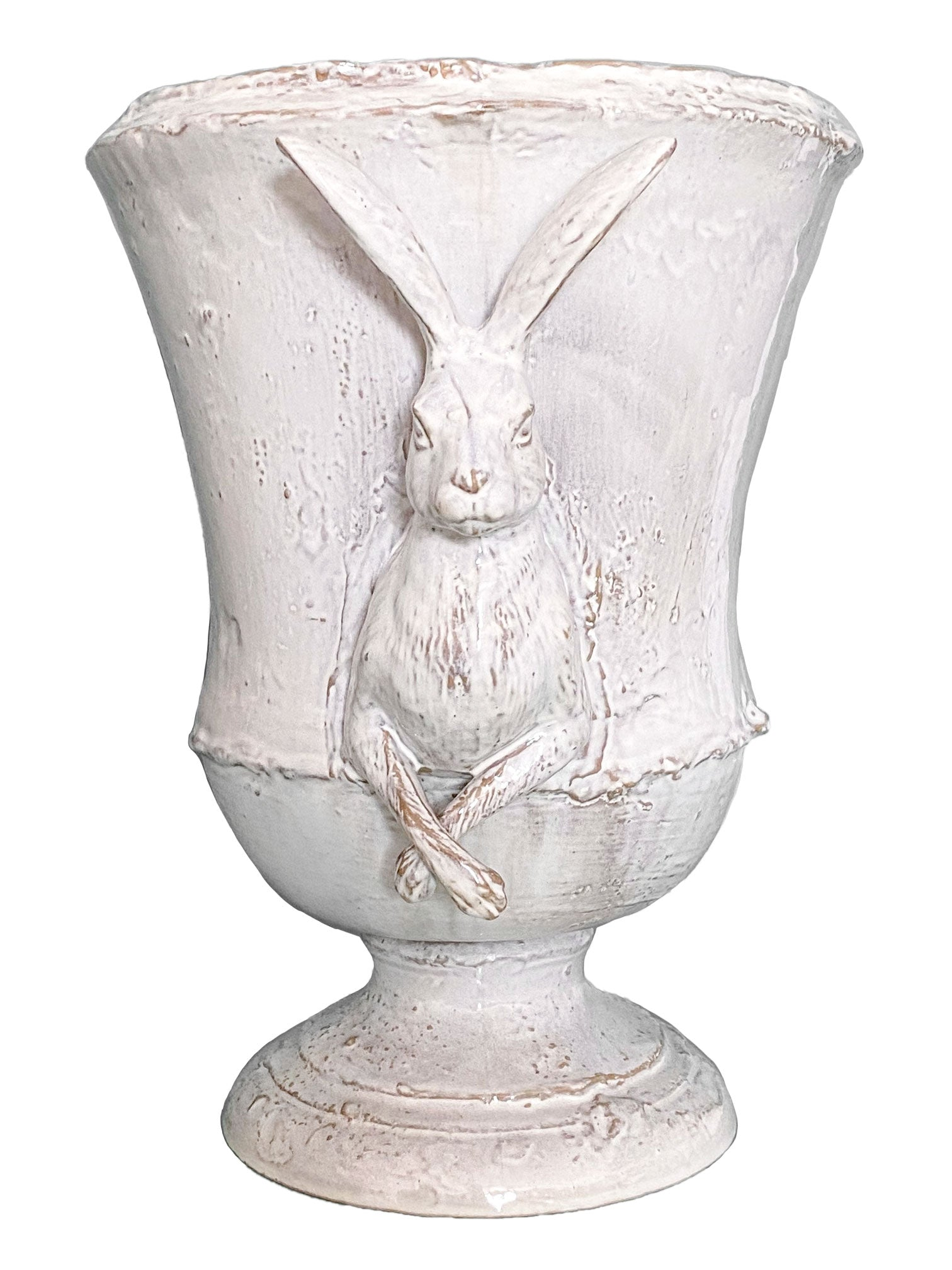 Curious Hare Urn (No. 5 Stained White)