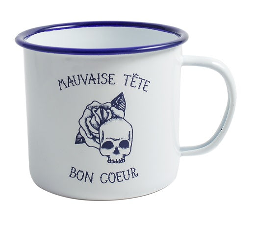 "Tattoo Collection ""Mauvaise tete, Bon Coeur"" Mug"