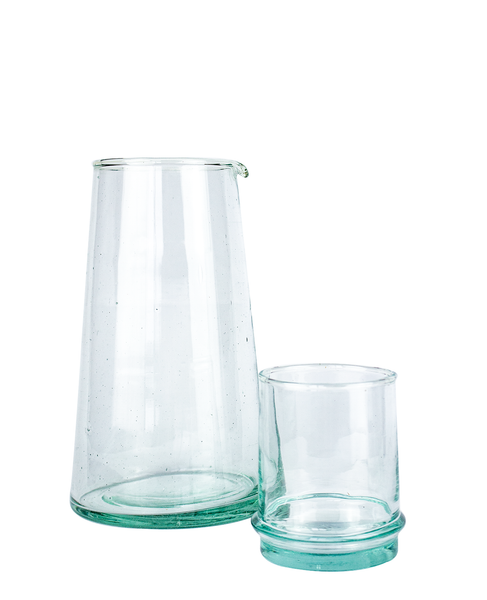 Beldi Small Tapered Carafe Clear