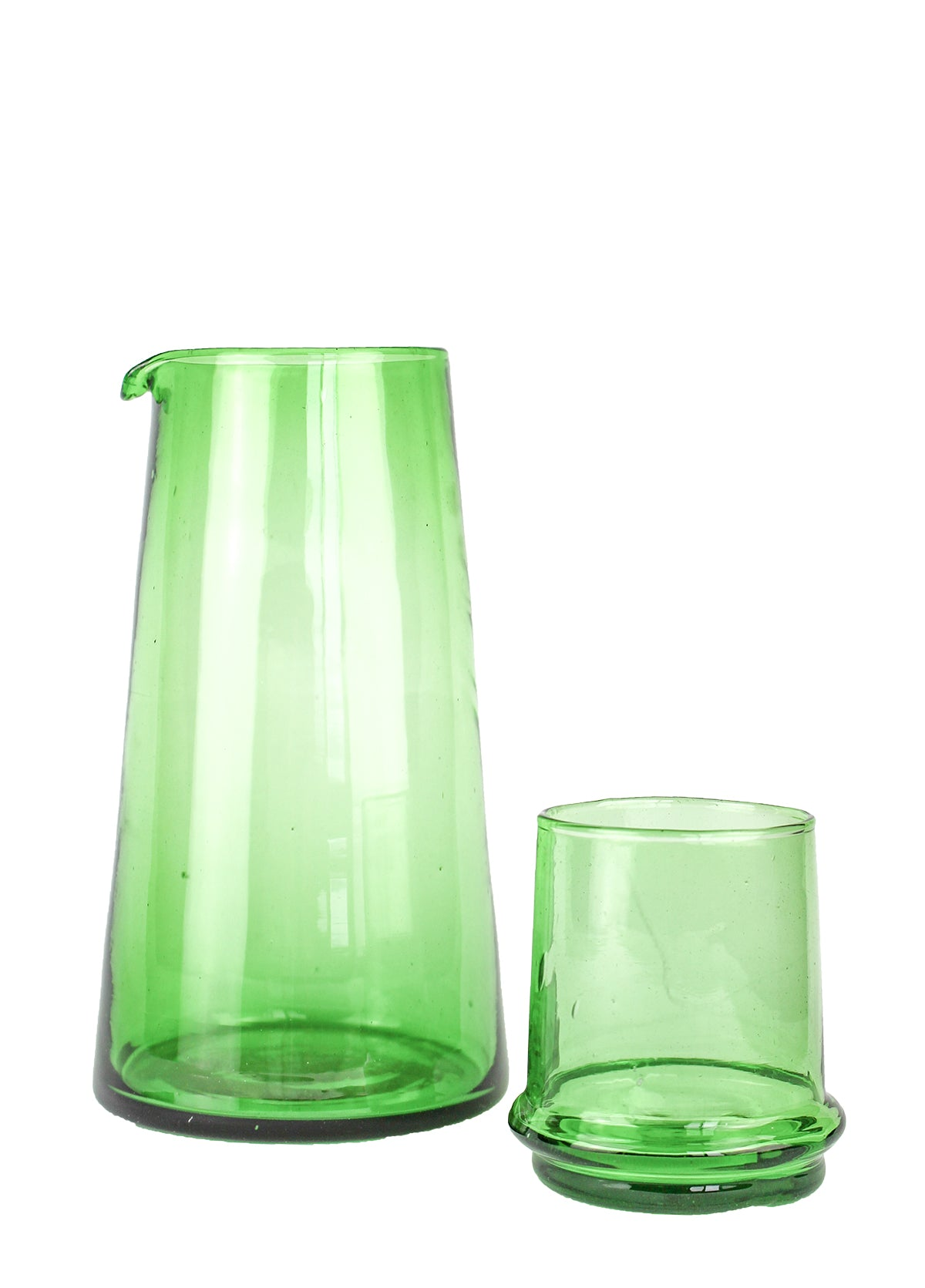 Beldi Small Tapered Carafe Green
