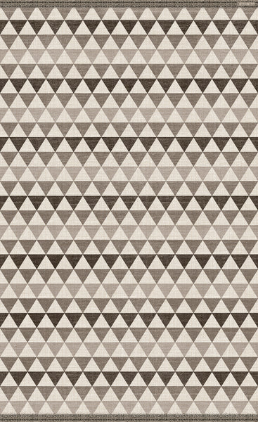 "Beija Flor Nordic Textile Brown Triangle Large Room Size Floor Mat  (55"" x 79"")"