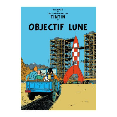 Tintin Objectif Lune Poster