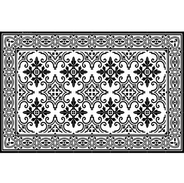 "Beija Flor Black and White Jaffa Placemat (13"" x 20"")"