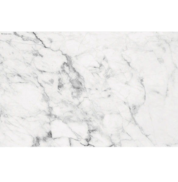 "Beija Flor White & Grey Marble Placemat (13"" x 20"")"